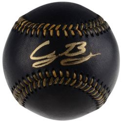Cody Bellinger Signed OML Black Leather Baseball (Fanatics Hologram)