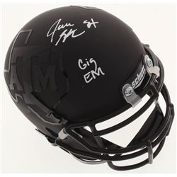 "Jace Sternberger Signed Texas AM Aggies Matte Black Mini Helmet Inscribed ""Gig Em"" (JSA COA)"
