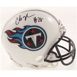 Chris Johnson Signed Tennessee Titans Mini-Helmet (Beckett COA)