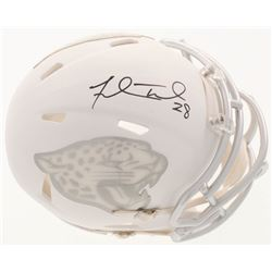 Fred Taylor Signed Jacksonville Jaguars Custom Matte White ICE Mini Speed Helmet (Beckett COA)