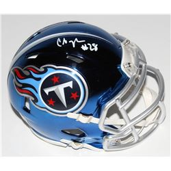 Chris Johnson Signed Tennessee Titans Chrome Speed Mini-Helmet (Beckett COA)