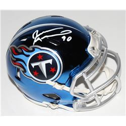 Jevon Kearse Signed Tennessee Titans Chrome Speed Mini-Helmet (Beckett COA)