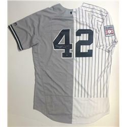 "Mariano Rivera Signed New York Yankees Split Jersey Inscribed ""HOF 2019"" (Steiner COA)"