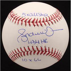 """Andruw Jones Signed OML Baseball Inscribed """"10x GG""""  """"5x All Star"""" (JSA COA)"""