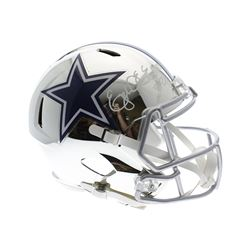 Ezekiel Elliott Signed Dallas Cowboys Chrome Speed Full-Size Helmet (Sports Collectibles Hologram)