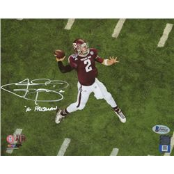 "Johnny Manziel Signed Texas AM Aggies 8x10 Photo Inscribed ""'12 Heisman"" (Beckett COA)"