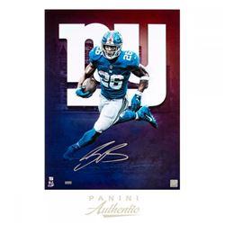 Saquon Barkley Signed New York Giants 18x24 Limited Edition Photo (Panini COA)