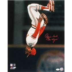 """Ozzie Smith Signed St. Louis Cardinals 16x20 Photo Inscribed """"The Wizard"""" (JSA COA)"""