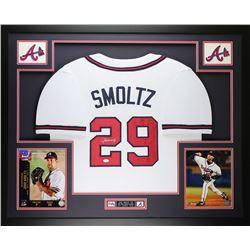 John Smoltz Signed Atlanta Braves 35x43 Custom Framed Jersey (JSA COA)