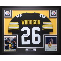 Rod Woodson Signed Pittsburgh Steelers 35x43 Custom Framed Jersey Display (PSA COA)