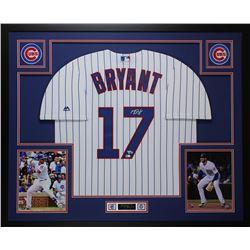Kris Bryant Signed Chicago Cubs 35x43 Custom Framed Jersey Display (Fanatics Hologram  MLB Holgoram)