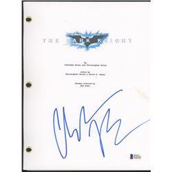 "Christian Bale Signed ""The Dark Knight"" Movie Script (Beckett COA)"