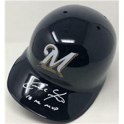 "Christian Yelich Signed Milwaukee Brewers Full-Size Batting Helmet Inscribed ""18 NL MVP"" (Steiner Ho"