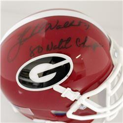 "Herschel Walker Signed Georgia Bulldogs Mini Helmet Inscribed ""80 Nat'l Champs"" (Sports Collectibles"