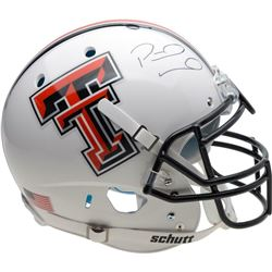 Patrick Mahomes Signed Texas Tech Red Raiders Full-Size Authentic On-Field Helmet (Fanatics Hologram