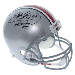 """Eddie George Signed Ohio State Buckeyes Full-Size Helmet Inscribed """"Heisman 1995"""" (JSA COA)"""
