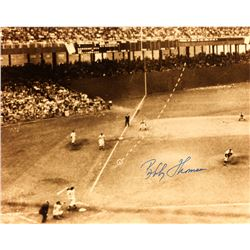 Bobby Thomson Signed New York Giants 8x10 Photo (Sports Collectibles Hologram)