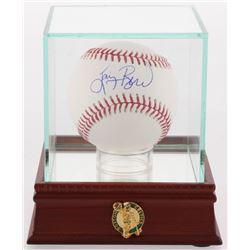 Larry Bird Signed OML Baseball with Display Case (PSA COA)