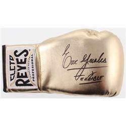 """Erik Morales Signed Vintage Leather Reyes Boxing Glove Inscribed """"Terrible"""" (JSA COA)"""