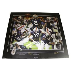 """Cam Newton, Kodi Burns, Wes Byrum  Nick Fairley Team-Signed LE """"All In"""" 24x27.25 Poster (Sports Coll"""
