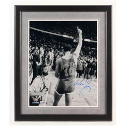 Walt Frazier Signed New York Knicks 22x26 Custom Framed Photo Display (Steiner COA)