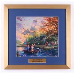 "Thomas Kinkade Walt Disney's ""Pocahontas"" 17.5x18 Custom Framed Print"