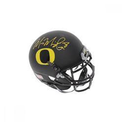 Marcus Mariota Signed Oregon Ducks Matte Black Mini Helmet (PSA COA)