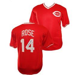 "Pete Rose Signed Cincinnati Reds Jersey Inscribed ""Hit King"" (PSA COA)"
