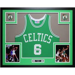 Bill Russell Signed Boston Celtics 35x43 Custom Framed Jersey (JSA COA)