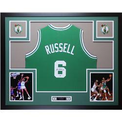 Bill Russell Signed Boston Celtics 35x43 Custom Framed Jersey (PSA COA)