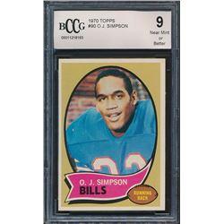 1970 Topps #90 O.J. Simpson (BCCG 9)
