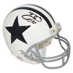 Emmitt Smith Signed Dallas Cowboys Mini-Helmet (PSA COA)