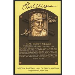 Earl Weaver Signed Orioles Hall of Fame Postcard (Slaughter Collection LOP)