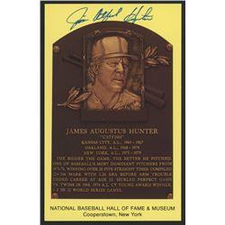 "Jim ""Catfish"" Hunter Signed Yankees Hall of Fame Postcard (Slaughter Collection LOP)"