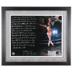 Spud Webb Signed Atlanta Hawks 22x26 Custom Framed Photo with Extensive Inscription (Steiner COA)