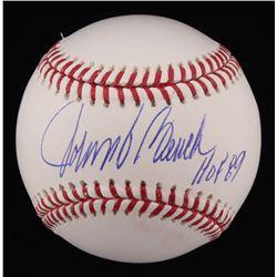 """Johnny Bench Signed OML Baseball Inscribed """"HOF 89"""" (Radtke COA)"""