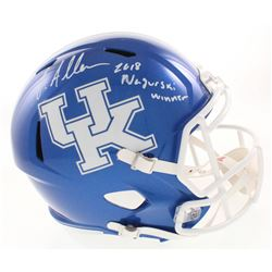 "Josh Allen Signed Kentucky Wildcats Full-Size Speed Helmet Inscribed ""2018 Nagurski Winner"" (Beckett"