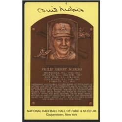 Phil Niekro Signed Braves Hall of Fame Postcard (Slaughter Collection LOP)