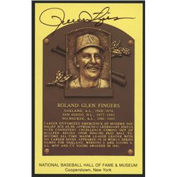 Rollie Fingers Signed Athletics Hall of Fame Postcard (Slaughter Collection LOP)