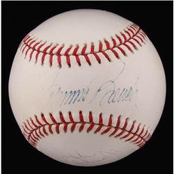 Johnny Bench, Brooks Robinson  George Brett Signed OML Baseball (JSA COA)