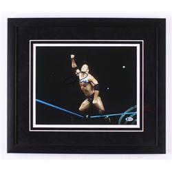"Dwayne ""The Rock"" Johnson Signed WWE 18x21 Custom Framed Photo Display (Beckett COA)"