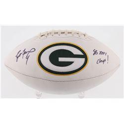 "Brett Favre Signed Packers Logo Football Inscribed ""SB XXXI Champs!"" (Favre COA)"