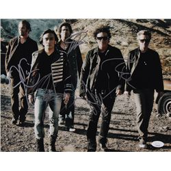 Journey 11x14 Photo Signed By (5) with Neal Schon, Ross Valory, Deen Castronovo, Jonathan Cain  Arne