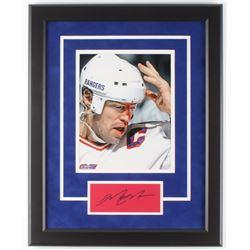 Mark Messier Signed New York Rangers 16x20 Custom Framed Cut with Photo (Steiner Hologram)