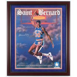 "Bernard King Signed New York Knicks 22x26 Custom Framed Photo Inscribed ""It's Good To Be King"" (Stei"