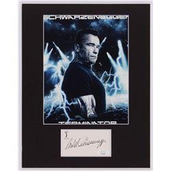 "Arnold Schwarzenegger Signed ""Terminator: Genisys"" 11x14 Custom Matted Cut Display (JSA COA)"