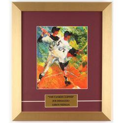 "LeRoy Neiman ""Joe DiMaggio: The Yankee Clipper"" 12.5x15 Custom Framed Print Display"