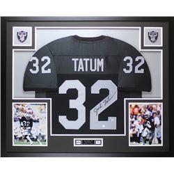 Jack Tatum Signed Oakland Raiders 35x43 Custom Framed Jersey (Beckett COA)
