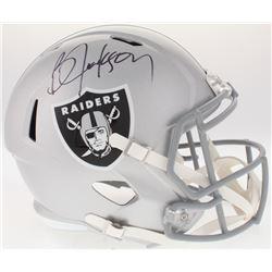 Bo Jackson Signed Raiders Full-Size Helmet (Beckett COA  Jackson Hologram)