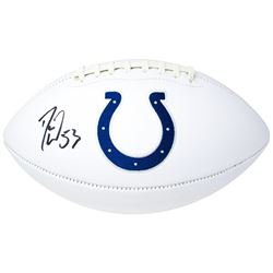 Darius Leonard Signed Indianapolis Colts Logo Football (JSA COA)